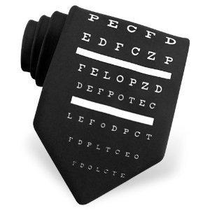 Eye Chart Tie by Ralph Marlin Ties - Black Polyester