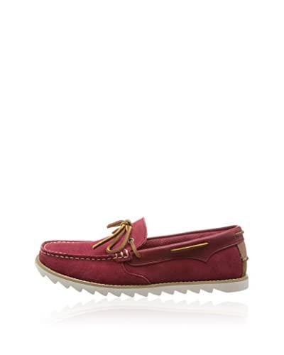 Hush Puppies Mocassino Vela Edmund Saw [Rosso]