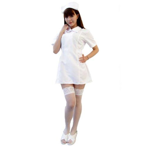 白衣の天使ナース服 コスチューム 白 レディース