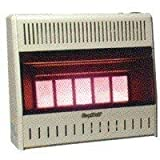 Kozy World KWN323 30,000-BTU Vent-Free Natural-Gas Infrared Wall Heater with Thermostat