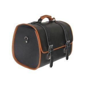 Original Vespa Ledertasche schwarz für den Gepäckträger GTS/Sprint/Primavera