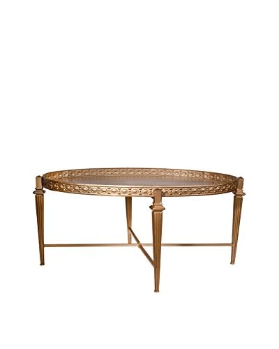 Donny Osmond Home Oval Coffee Table, Gold