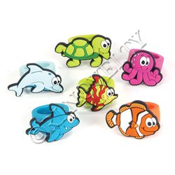 Sea Life Rubber Ring Toy 1 Dozen - 1