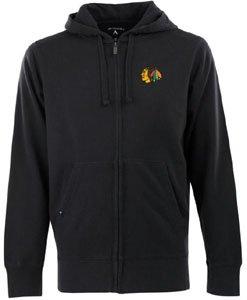 Nhl Chicago Blackhawks Signature Hood Long Sleeve Full-Zip Fleece, Black, Xx-Large