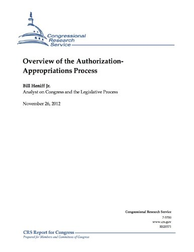 Overview of the Authorization - Appropriations Process PDF