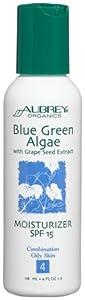 Aubrey Organics Blue Green Algae with Grape Seed Extract Moist. Spf 15, 4-Ounce Bottle