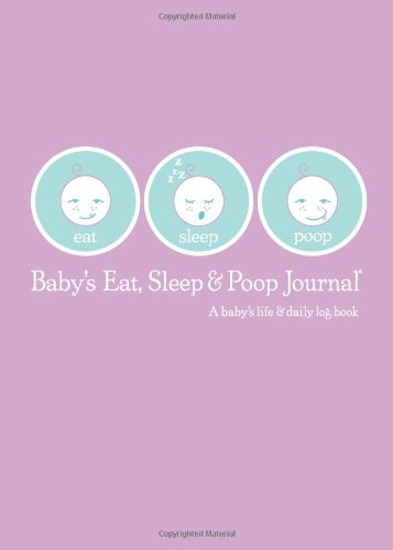 Baby's Eat, Sleep and Poop Journal, Log Book Lavender