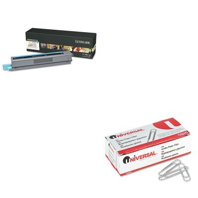 KITLEXX925H2CGUNV72220 - Value Kit - Lexmark X925H2CG High-Yield Toner (LEXX925H2CG) and Universal Smooth Paper Clips (UNV72220) kitred5l350unv35668 value kit rediform sales book red5l350 and universal standard self stick notes unv35668