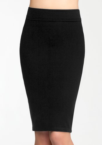 bebe Midi Knit Skirt Related Blk-xs