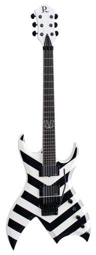 B.C. Rich Bich Bvbjxbcs B.C. Jinxx Rich Pro X Bich Electric Guitar, Pearl White With Black Custom Stripe Pattern