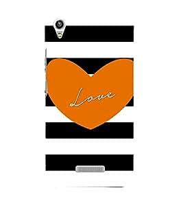 Vizagbeats love in orange heart Back Case Cover for Lava Pixel V1