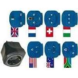 Brennenstuhl Reisestecker/-adapter-Set mit 10 A Sicherung schwarz/blau, 1508160