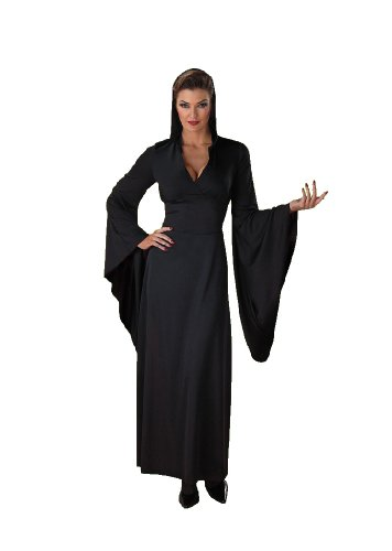 Sexy Hooded Black Robe Witch Vampiress Countess Classic Vampire Halloween Costume