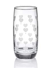 Country Heart Hi Ball Glass