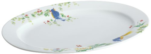 Paula Deen Signature Dinnerware Spring Melody Collection Oval Serving Platter, 10-Inch By 14-Inch