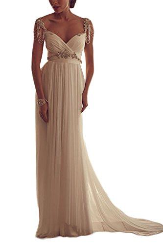 8fb62ebac921 YunMan Straps Beading Beach Wedding Dresses Romantic Wedding Bridal Gowns  YMD021