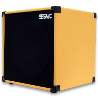 "Seismic Audio - 1X12 Guitar Speaker Cab Empty - 7 Ply Birch - 12"" Cube Cabinet - Orange Tolex, Black Removable Cloth Grill - Front Loading Speakerless Cabinet"
