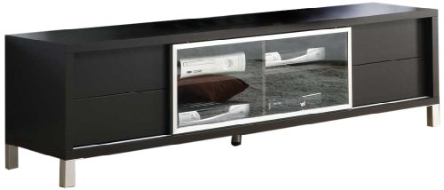 Monarch Specialties Cappuccino Hollow Core 70-Inch Euro TV Console photo