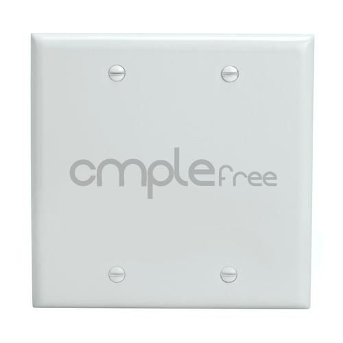 Blank Double Covers 2 Gang Unbreakable Wall Plate White Bendable Face Plate NEW (Wall Plate Cord Cover compare prices)