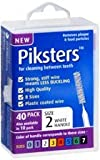 PIKSTERS - for cleaning between teeth-Size 2 (WHITE)- 40Pk