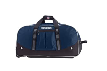 Dallas Cowboys - Navy Athalon NFL Wheeling Packaged Duffel - 35 Inches
