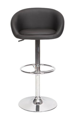 Set of 2 Black Leather Chair Home Decor Accent #80838