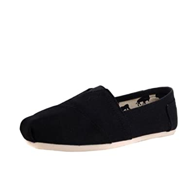 Hee Grand Unisex Canvas Flats Slippers Casual Slip on Sneakers US10.5/CN44 Black