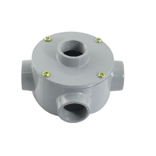 "G3/4"" Thread Four Holes Conduit Wiring Round Metal Junction Box"