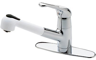 Kitchen Pullout Faucet by Price Pfister  T5335CW in Chrome/White
