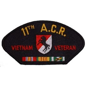 US Military Vietnam War Iron On Patch - 11th ACR Armored Cavalry Regiment Veteran