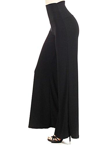 Simplicity Women'S Palazzo Pants Wide Leg Bohemian Loose Style, Black, Xl
