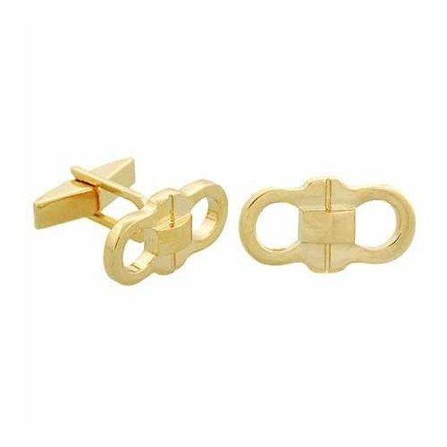 Vermeil (24k Gold over Sterling Silver) Designer G Design Mens Cuff Links CuffLinks