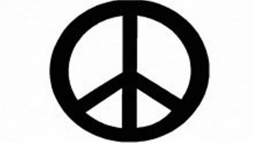 Design with Vinyl Design 125 Peace Sign ? Removable Wall Decal, 8-Inch By 8-Inch, Black