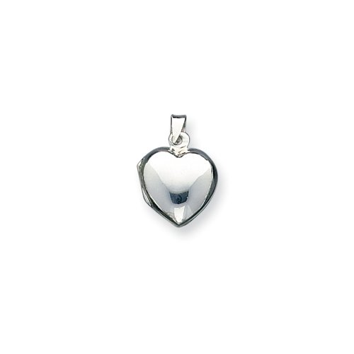 Sterling Silver Plain Domed Heart Locket