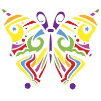Butterfly Motif Accent Stencil - stencil only - 7.5 mil standard