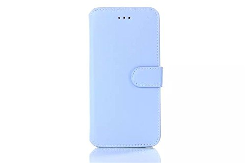 Iphone 6 Phone Case Borch Fashion Multi-Function Wallet For Iphone 6 Case Luxury Genuine Leather Carrying Case Cover With Credit Id Card Slots/ Money Pockets Flip Leather Case For Iphone 6 4.7 Inch Borch Screen Protector (Sky Blue)