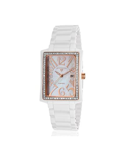 Swiss Legend Women's 10034D-WWRA Bella White/Mother of Pearl Ceramic Watch