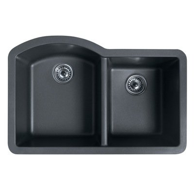 Swanstone granite sinks swanstone qu03322db nero granite for Swanstone undermount sinks