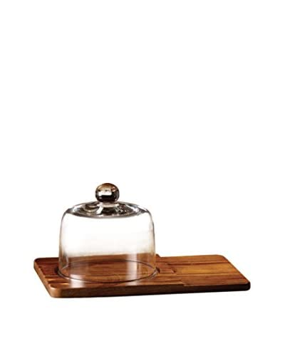 Style Setter Madera Cheese Board with a Glass Dome