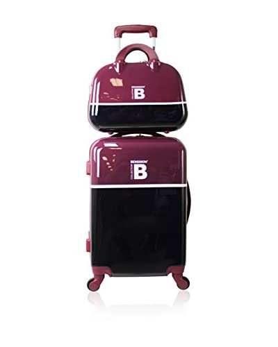 BENSIMON Set Trolley Rigido e Beauty Case