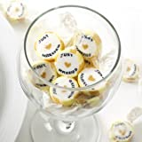 Just Married Gold Rock Sweets Pack 50 - great alternative Wedding Favours