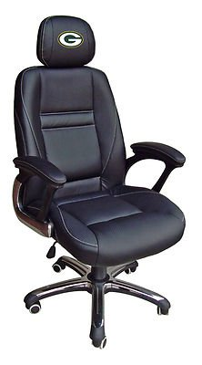 "Green Bay Packers NFL ""The Head Coach"" Leather Office Chair at Amazon.com"