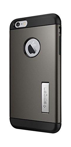 Spigen iPhone6s Plus ケース / iPhone6 Plus ケース, スリム・アーマー  米軍MIL規格取得 衝撃吸収パターン加工  アイフォン6s プラス / 6 プラス 用 耐衝撃カバー (ガンメタル SGP11651)