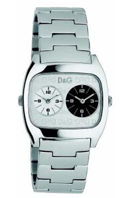 D&G Dolce&Gabbana Dig it Extension DW0139 - Reloj unisex de cuarzo con correa de acero inoxidable plateada