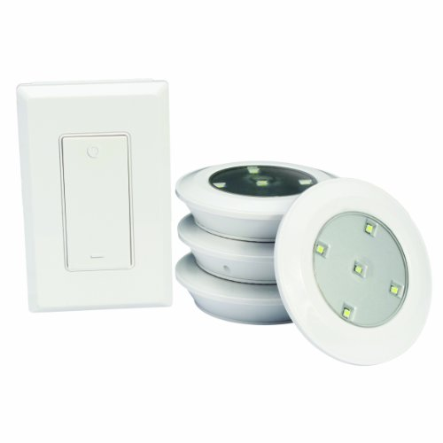 name lightmates lite00113 led wireless puck light with switch 6 pack. Black Bedroom Furniture Sets. Home Design Ideas