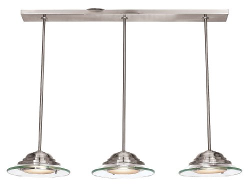 Access Lighting 50443-BS/8CL 3 Light Phoebe Island Light Brushed