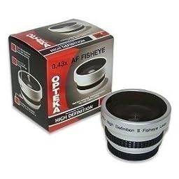 Opteka 0.43x HD2 Full Fisheye Lens for JVC GZ-HD300, HD320, HM200, HM400, MG630, MG670, MG680, MG330, MS120, MS130, X900, MG335, MG360 and MG365 Digital Camcorders