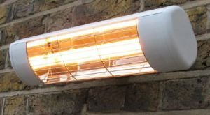 Wall Mounted Electric Infrared Halogen Patio Heater - Weatherproof IP55