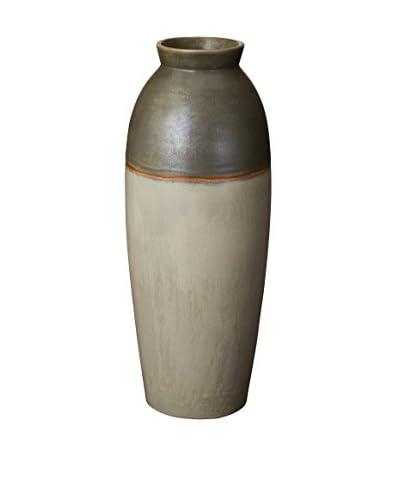 Olive Fire Line Vase