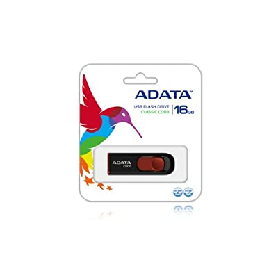 Adata Dash Drive Classic C008 Series 16 GB USB Flash Drive (Black)